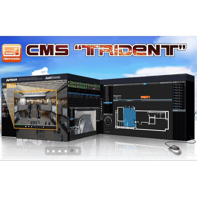 Программа CMS «TRIDENT»|Программа «TRIDENT» для работы с DVR, NVR и IP-камерами