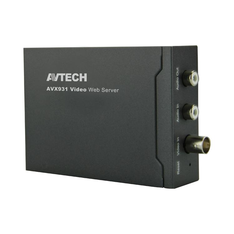 AVX931  (архив)|IP-сервер, преобразует аналоговый видеосигнал (PAL/NTSC) в цифровой (IP, Ethernet)