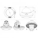 фото.2 AVM503|Купольная поворотная IP камера 2Мп с WDR и ИК-подсветкой